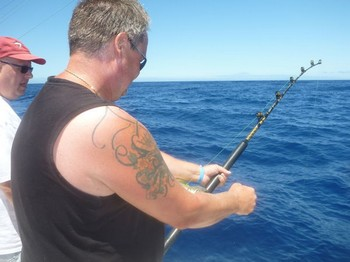 The WINNER - Christian is fighting his White Marlin Cavalier & Blue Marlin Sport Fishing Gran Canaria