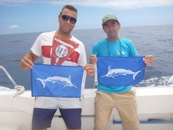 Satisfied anglers - Satisfied fishermen on the boat Cavalier Cavalier & Blue Marlin Sport Fishing Gran Canaria