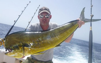 38 lbs Dorado caught by Jan Kroon from Holland Cavalier & Blue Marlin Sport Fishing Gran Canaria