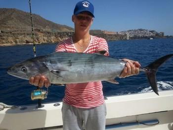 Atlantic Bonito caught by Jesse Holmberg from Finland Cavalier & Blue Marlin Sport Fishing Gran Canaria