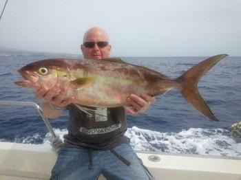 Amberjack caught by Damian Brennan on the Cavalier Cavalier & Blue Marlin Sport Fishing Gran Canaria
