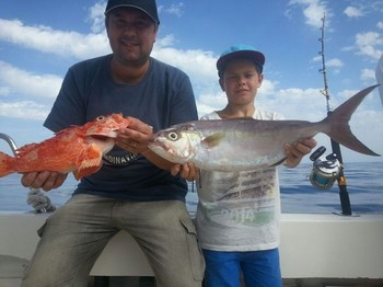 Nice Catch - Tobias and Erik Granberg from Sweden Cavalier & Blue Marlin Sport Fishing Gran Canaria