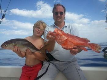 Well done - Ulf and Oskar Kassander from Sweden Cavalier & Blue Marlin Sport Fishing Gran Canaria