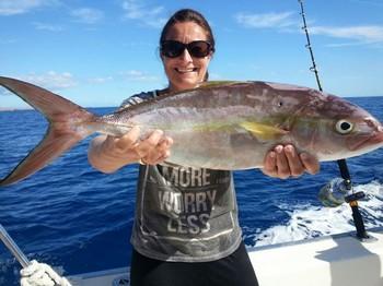 Amberjack - Veronica Hetland from Norway Cavalier & Blue Marlin Sport Fishing Gran Canaria