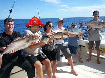 Nice Catch - Satisfied anglers on board of the Cavalier Cavalier & Blue Marlin Sport Fishing Gran Canaria