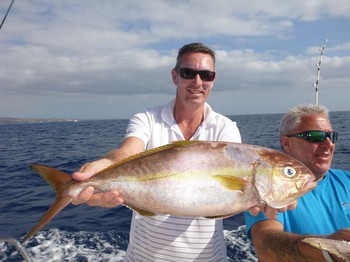 Amberjack caught by Mr Lambie from New Zealand Cavalier & Blue Marlin Sport Fishing Gran Canaria