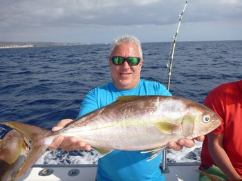 Amberjack caught by Peter from England Cavalier & Blue Marlin Sport Fishing Gran Canaria