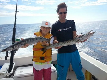 Baracuda's - Krister  &  Linnea Nyman from Sweden Cavalier & Blue Marlin Sport Fishing Gran Canaria