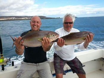 Amberjacks - 2 Amberjacks, caught on the boat Cavalier Cavalier & Blue Marlin Sport Fishing Gran Canaria