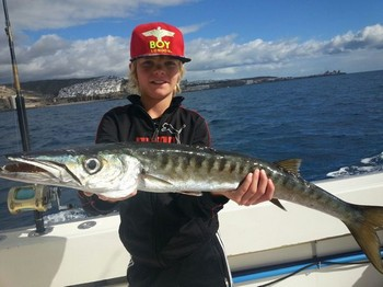 Barracuda caught by Sydney Hamstra from Holland on the boat Cavalier Cavalier & Blue Marlin Sport Fishing Gran Canaria