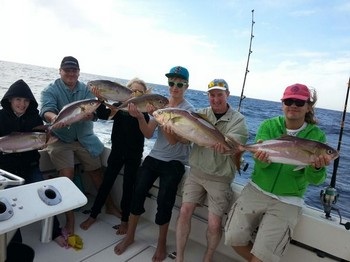 Satisfied fishermen - Satisfied anglers on board of the Cavalier Cavalier & Blue Marlin Sport Fishing Gran Canaria