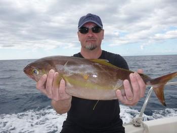 Amberjack - Jari Korhonen de Finlandia en el Cavalier Pesca Deportiva Cavalier & Blue Marlin Gran Canaria