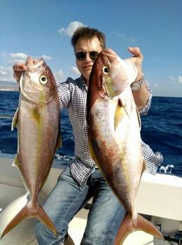 Amberjacks - Jonas Nordström de Suecia en el Cavalier Pesca Deportiva Cavalier & Blue Marlin Gran Canaria