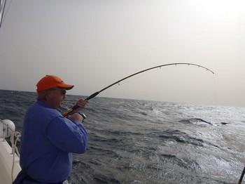 Hooked Up - Pete McAdam enganchado con un Amberjack Pesca Deportiva Cavalier & Blue Marlin Gran Canaria