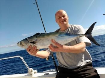 North Atlantic Bonito - Arto Koivurinta aboard of the boat Cavalier Cavalier & Blue Marlin Sport Fishing Gran Canaria