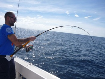Hooked Up - Great sport for Marco Facciaroni Cavalier & Blue Marlin Sport Fishing Gran Canaria