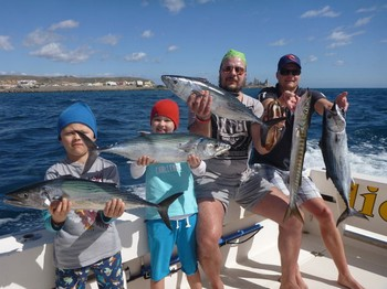 Great Catch for Jarno, Eety ,and Roope Hacklin + Janne Sirén Cavalier & Blue Marlin Sport Fishing Gran Canaria