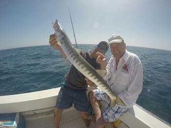 Barracuda - Mr James Rasmussen from Denmark on the Cavalier Cavalier & Blue Marlin Sport Fishing Gran Canaria