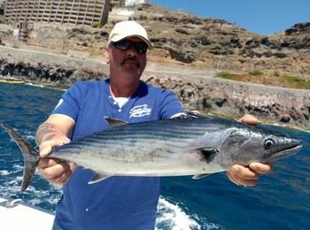 North Atlantic Bonito caught by Maarten Bos from Holland Cavalier & Blue Marlin Sport Fishing Gran Canaria