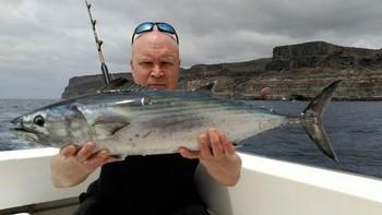 Bonito del Atlántico Norte capturado por Danny Bernard Pesca Deportiva Cavalier & Blue Marlin Gran Canaria