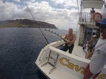Hooked Up - Danny Bernard from Holland hooked up Cavalier & Blue Marlin Sport Fishing Gran Canaria