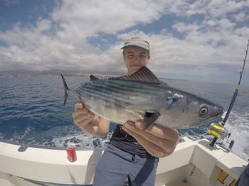 North Atlantic Bonito caught by Elin Blomqvist Cavalier & Blue Marlin Sport Fishing Gran Canaria