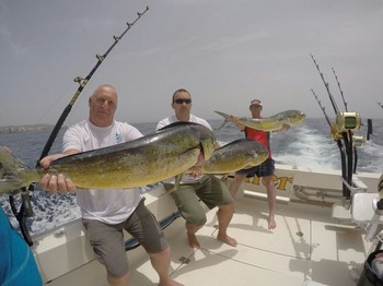 Satisfied Clients - Satisfied clients on the boat Cavalier Cavalier & Blue Marlin Sport Fishing Gran Canaria