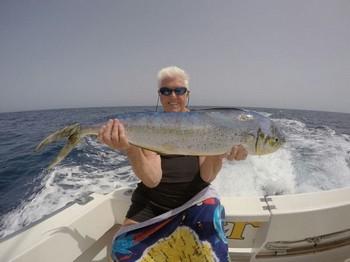 Dorado - Denise from England on the boat Cavalier Cavalier & Blue Marlin Sport Fishing Gran Canaria
