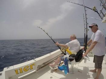 Conectado - Klaas Westerhof de Holanda luchando con un Blue Marlin Pesca Deportiva Cavalier & Blue Marlin Gran Canaria