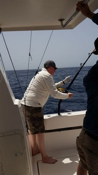 Hooked Up - Darrel Cooper from the United Kingdom Cavalier & Blue Marlin Sport Fishing Gran Canaria
