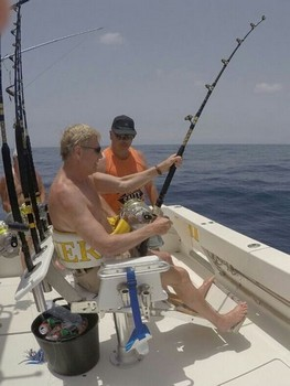 Hooked Up - Jan Bovendeur from Holland is fighting a Blue Marlin Cavalier & Blue Marlin Sport Fishing Gran Canaria