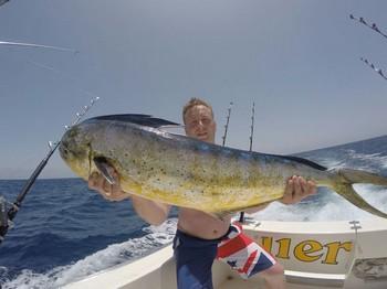 Dorado caught by Daniel Todd fro the United Kingdom Cavalier & Blue Marlin Sport Fishing Gran Canaria