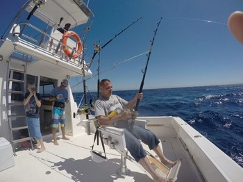 Hook Up - Mr Anders from Sweden hooked up with his dream fish Cavalier & Blue Marlin Sport Fishing Gran Canaria