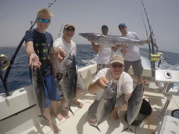 Nice Catch - Happy Anglers on the boat Cavalier Cavalier & Blue Marlin Sport Fishing Gran Canaria