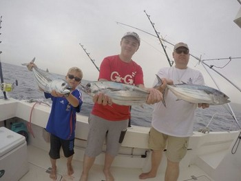Well done - Skipjacks caught on the boat Cavalier Cavalier & Blue Marlin Sport Fishing Gran Canaria