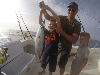 Congratulations - A proud father with his two sons Cavalier & Blue Marlin Sport Fishing Gran Canaria