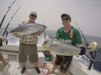 Well done - Nice catch for these two anglers Cavalier & Blue Marlin Sport Fishing Gran Canaria