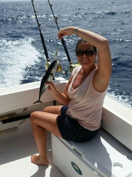 Congratulations - Janneke Baggetun from Norway on the boat Cavalier Cavalier & Blue Marlin Sport Fishing Gran Canaria