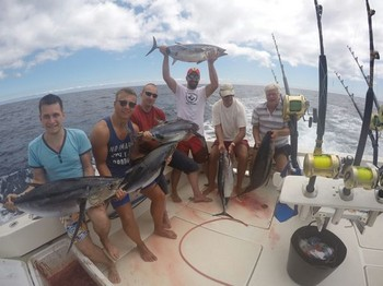 Albacore explosion on the Cavalier Cavalier & Blue Marlin Sport Fishing Gran Canaria