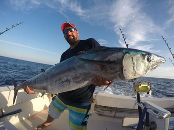 26 kg Wahoo caught by Alexis Jerominos from the UK Cavalier & Blue Marlin Sport Fishing Gran Canaria