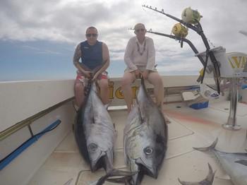 Big Eye Tuna - Barry Rudge and son Dan caught these 180 pounds Big Eye Tuna Cavalier & Blue Marlin Sport Fishing Gran Canaria