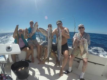 Satisfied fishermen on the boat Cavalier Cavalier & Blue Marlin Sport Fishing Gran Canaria