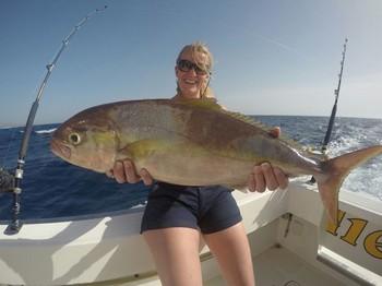 Amberjack for Martina  from Holland Cavalier & Blue Marlin Sport Fishing Gran Canaria