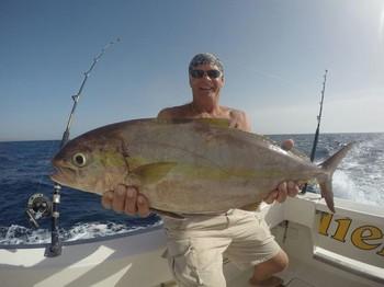 Amberjack - Big amberjack for this lucky fisherman Cavalier & Blue Marlin Sport Fishing Gran Canaria