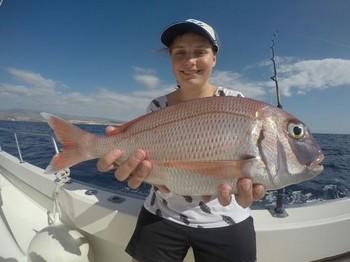 Red Snapper - Majbritt Skyum from Denmark Cavalier & Blue Marlin Sport Fishing Gran Canaria