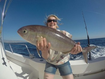 Amberjack - Charlotte  Kaisemeijer from  Scotland Cavalier & Blue Marlin Sport Fishing Gran Canaria