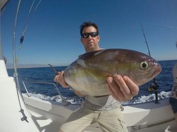 Amberjack caught by Jamie Stuart  from Scotland Cavalier & Blue Marlin Sport Fishing Gran Canaria