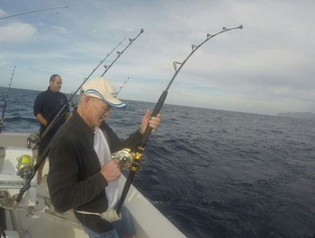 Hooked Up - Peter Schuurbiers is fighting an Albacore Tuna Cavalier & Blue Marlin Sport Fishing Gran Canaria