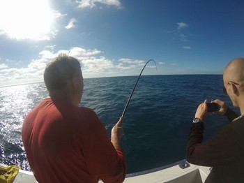 Hooked up - Enzo from Italy hooked up Cavalier & Blue Marlin Sport Fishing Gran Canaria