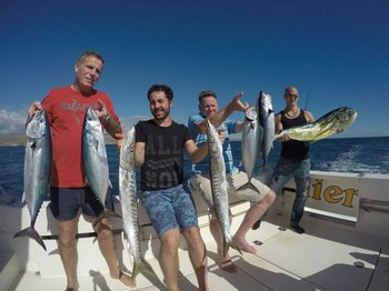 Satisfied fishermen - Satisfied anglers on board of the Cavalier Cavalier & Blue Marlin Sport Fishing Gran Canaria